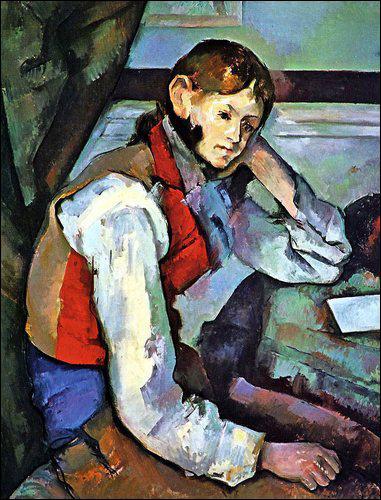 Qui a peint Jeune garçon au gilet ?