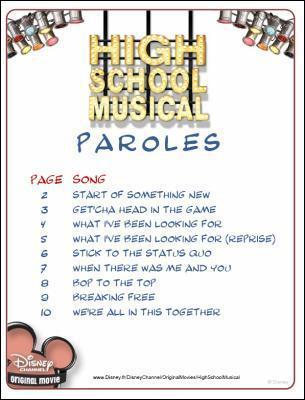 """Quelle est la nouvelle chanson d'""""High School Musical 2"""" ?"""
