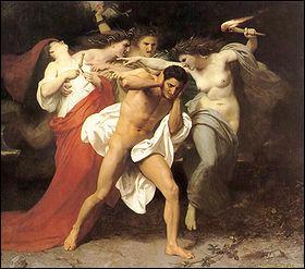 Nous sommes les trois divinités de la vengeance (Alecto, Tisiphone et Mégère). Nous sommes. .