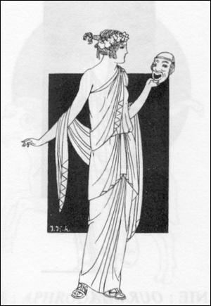 Muse de la Comédie, elle est couronnée de lierre. Elle se nomme. .