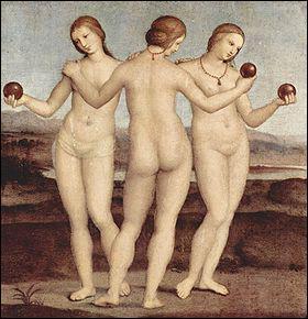 Nous sommes les trois divinités de la Grâce et de la beauté (Aglaé, Euphrosyne et thalie). Nous sommes. .
