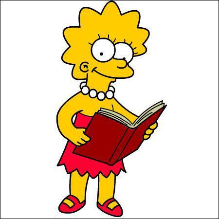 L'une des filles des Simpson :