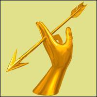 Que fait la flèche d'Artémis ?