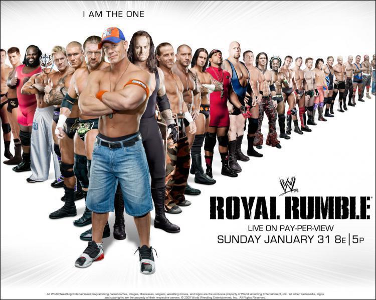 Qui a été 3 fois gagnant de la royal rumble ?