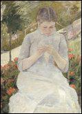 Quelle femme peintre a réalisé 'Jeune fille au jardin' ?