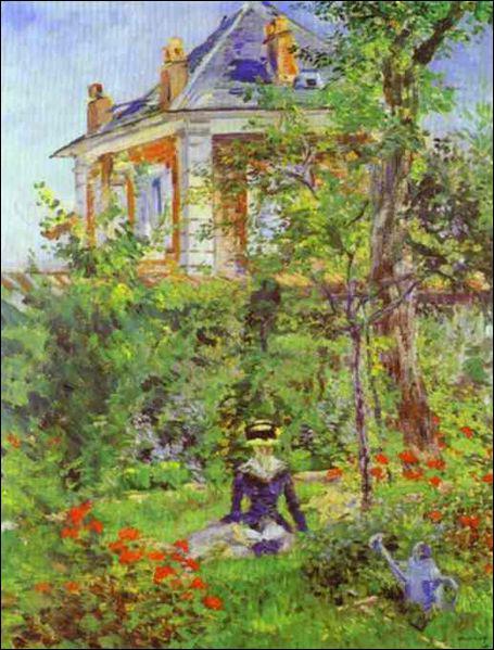 Quel peintre a réalisé 'Fille dans le jardin de Bellevue' ?