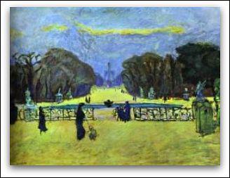 Quel peintre a représenté le Jardin des Tuileries ?