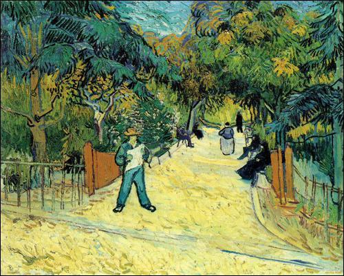 Quel peintre hollandais a réalisé 'L'entrée du jardin public à Arles' ?