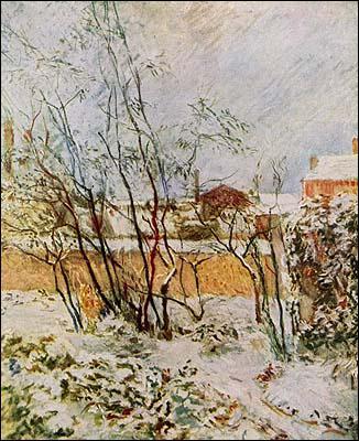 Quel peintre a réalisé 'Jardin sous la neige' ?