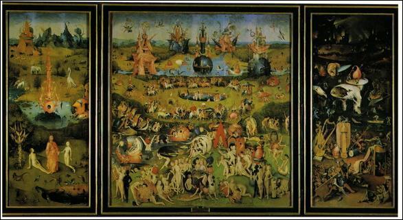 Quel peintre a réalisé le triptyque 'Le jardin des délices' dont le panneau central figure le paradis terrestre ?