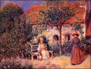 Quel peintre a réalisé 'Scène de jardin en Bretagne' ?