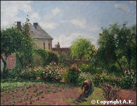 Quel peintre a réalisé 'Jardin à Eragny ' ?