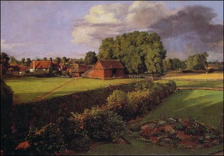 Quel peintre anglais a réalisé 'Le jardin fleuri de Golding' ?
