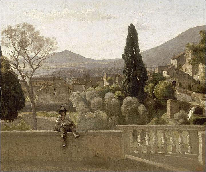 Quel peintre a réalisé 'Tivoli, les jardins de la villa d'Este' ?