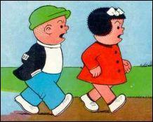 Quel est le nom de ces deux petits héros, ancienne bande dessinée diffusée dans le magasine Télé Poche ?