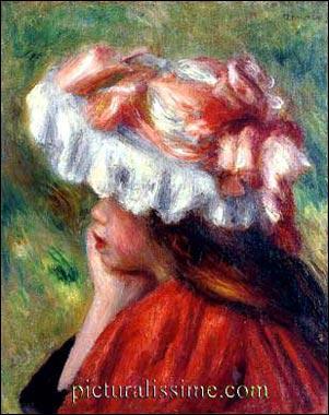 Quel peintre impressionniste a réalisé 'Fillette au chapeau rouge' ?
