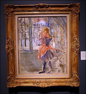 Quelle femme peintre a réalisé 'L'enfant au tablier rouge' ?