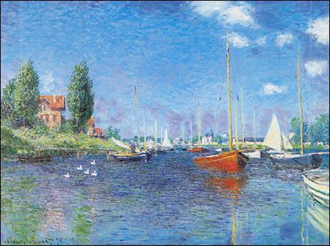 Quel peintre impressionniste a réalisé 'Le bateau rouge' ?