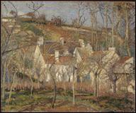 Quel peintre impressionniste a réalisé 'Les toits rouges, coin de village, effet d'hiver' ?