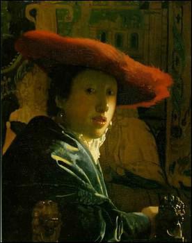 Quel peintre hollandais a réalisé 'La fille au chapeau rouge' ?