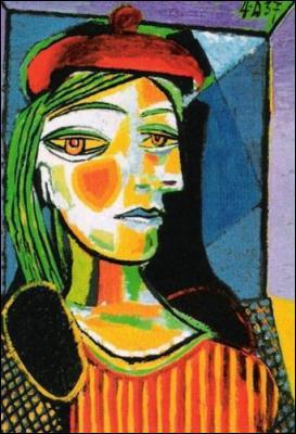 Quel peintre espagnol a réalisé 'Femme au béret rouge' ?