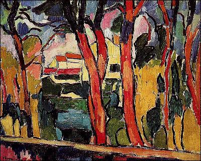 Quel peintre fauviste a réalisé 'Paysage aux arbres rouges' ?