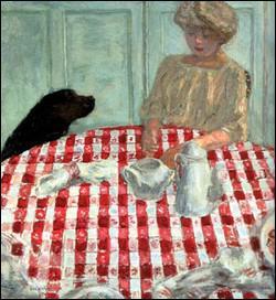 Quel peintre du groupe des Nabis a réalisé 'La nappe à carreaux rouges ou le déjeuner du chien' ?