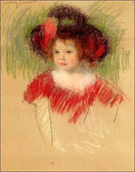 Quel(le) peintre américain(e) a réalisé 'Margot en robe rouge' ?