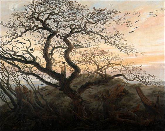 Quel peintre allemand a représenté 'L'arbre aux corbeaux' ?