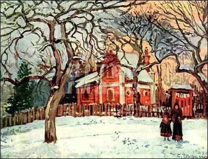 Quel peintre a représenté 'Châtaigniers à Louveciennes' ?