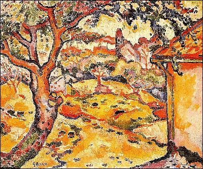 Quel peintre a représenté 'L'olivier près de l'Estaque' ?