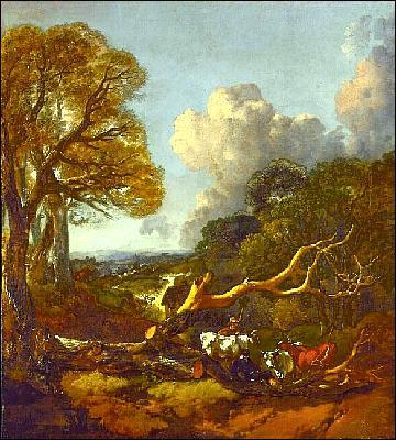 Quel peintre anglais a représenté 'Arbre couché' ?
