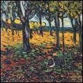 Quel peintre a représenté 'Les arbres rouges' ?