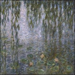 Quel peintre a représenté 'Les nymphéas : le matin clair aux saules ' ?