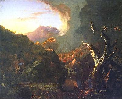 Quel peintre américain a représenté 'Paysage aux arbres morts' ?