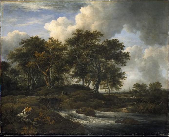 Quel peintre hollandais a représenté 'Chênes au bord d'un torrent' ?