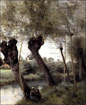 Quel peintre a représenté 'St Nicholas les Arras, saules sur les rives de la Scarpe' ?