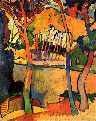 Quel peintre a représenté 'L'estaque, trois arbres' ?