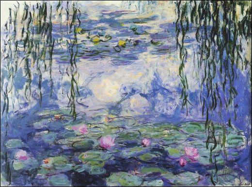 Qui a peint Nymphéas bleues et saules ?