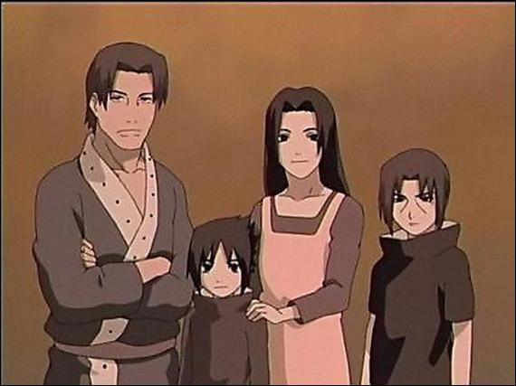 Comment se nomment les parents de Sasuke ?