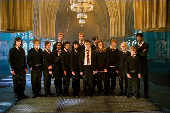 Comment se nomme l'armée qu'Harry a créée ? (hp 5)