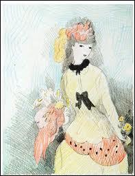 Avec ta robe longue, tu ressemblais à une aquarelle de Marie Laurencin...