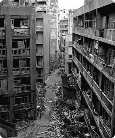 Hashima, île fantôme du Japon fut vers 1960 :