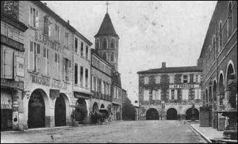 Quell est cette ville du Gers qui est une bastide et qui a une église appelée : Église Saint-Laurent ?