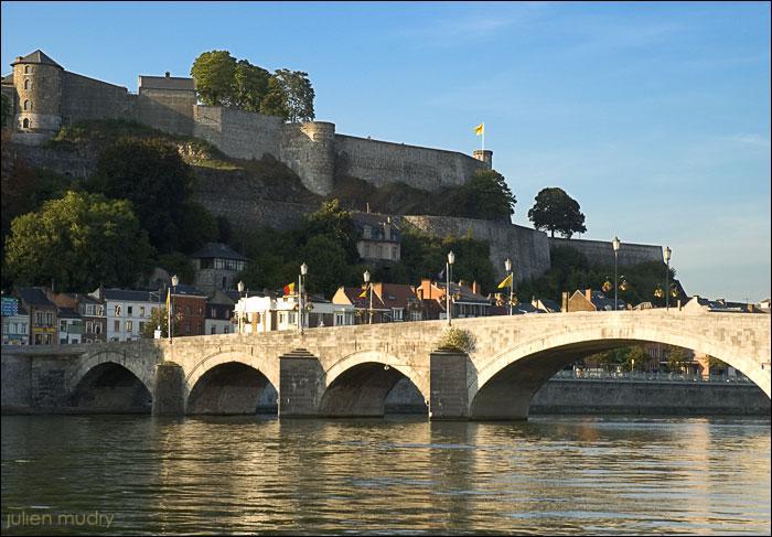 Capitale de la Wallonie cette ville est située au confluent de la Sambre et de la Meuse. Le Grognon, son cœur historique, est dominé par une citadelle classée au patrimoine majeur de Wallonie. C'est :