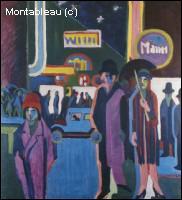 Quel peintre allemand a réalisé 'Scène de rue, la nuit' ?