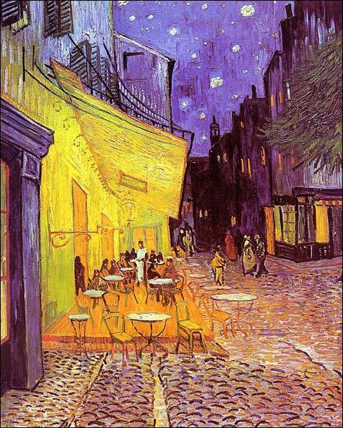 Quel peintre néerlandais a réalisé 'Terrasse de café, la nuit' ?