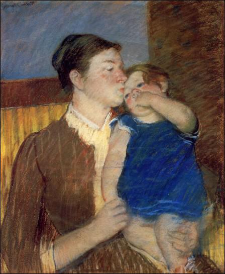 Quel peintre américain a réalisé 'Maman donne le bisou de bonne nuit' ?