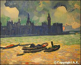 Quel peintre fauviste a réalisé 'Le Parlement la nuit' ?