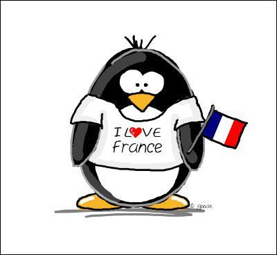 Je n'aime que la France, je suis donc... .